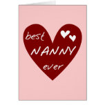 Red Heart Best Nanny Ever T-shirts and Gifts Greeting Cards