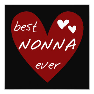 Red Heart Best Nonna Ever T-shirts gifts Custom Invites