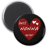 Red Heart Best Nonna Ever T-shirts gifts 2 Inch Round Magnet