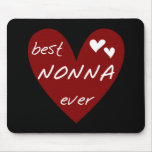 Red Heart Best Nonna Ever T-shirts gifts Mouse Pad