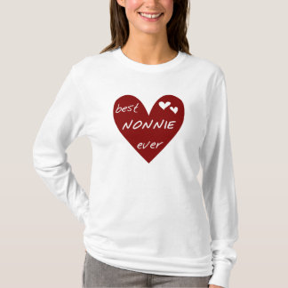 Red Heart Best Nonnie Ever T-shirts and Gifts