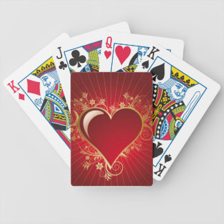 Red Heart Bicycle Playing Cards