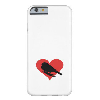 Red Heart Bird Barely There iPhone 6 Case