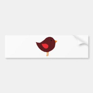 Red Heart Bird Bumper Sticker