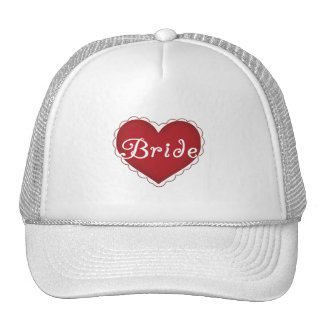Red Heart Bride T-shirts and Gifts Trucker Hats