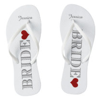 Red Heart Bride's Flip Flops