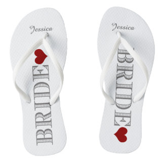 Red Heart Bride's Flip Flops