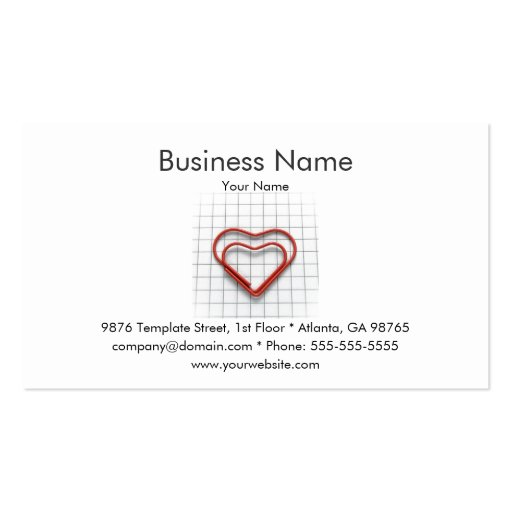 Red Heart Business Card Template