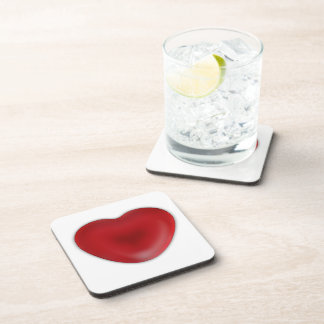 Red Heart Candy Coaster
