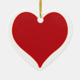 Red Heart Ceramic Ornament