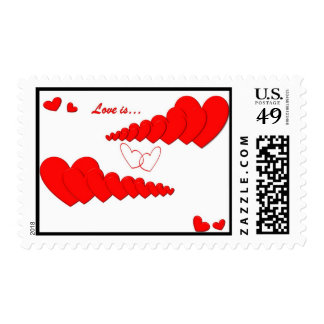 Red Heart Chain LOVE IS... Postage