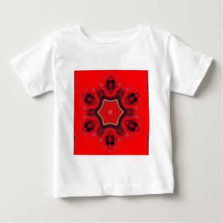 Red Heart Chakra Mandala Art Mediation Spiritual Baby T-Shirt