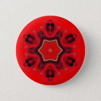 Red Heart Chakra Mandala Art Mediation Spiritual Pinback Button