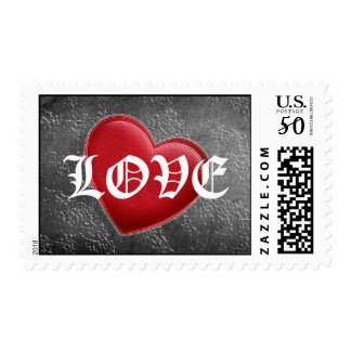 Red Heart Chalkboard Love Postage Stamps