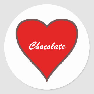 Red Heart, Chocolate Classic Round Sticker