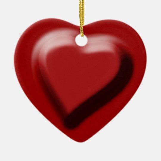 "Red heart chocolate ""I love you"" Ceramic Ornament"