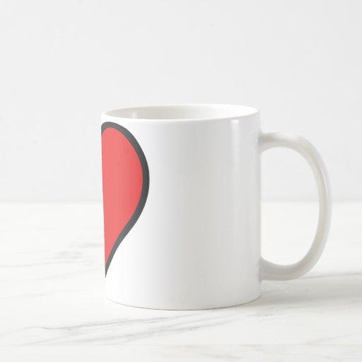 Red Heart Coffee Mugs