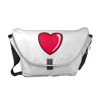Red Heart Commuter Bag