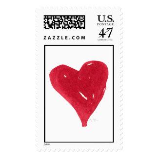 Red Heart Custom Postage