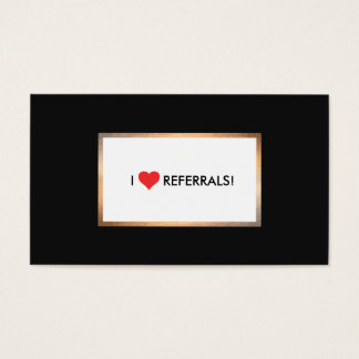 Red Heart Customer Appreciation Referral Business Card