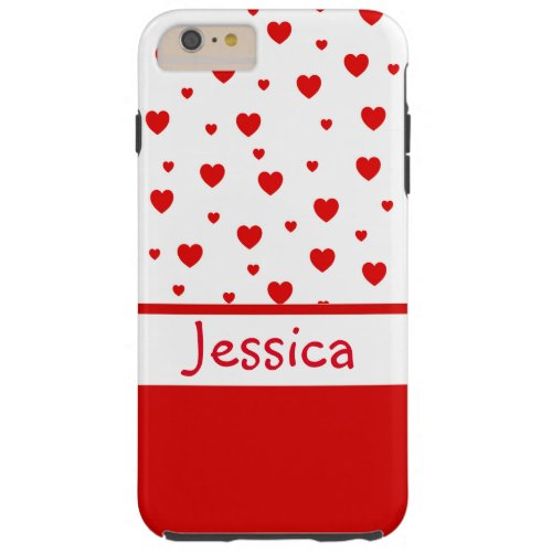Red Heart Customizable Phone Case