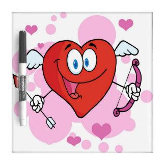Red Heart Cute Cupid Dry-Erase Board