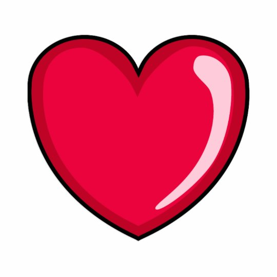 Red Heart Cutout