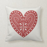 Red Heart Cutout Inspired Pillow