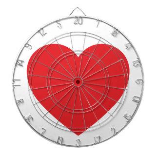 Red Heart Dartboard