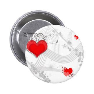 Red Heart Design Button