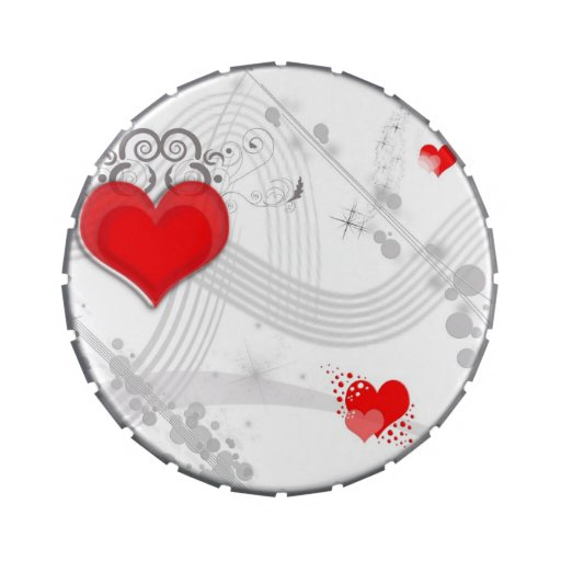 Red Heart Design Candy Tins