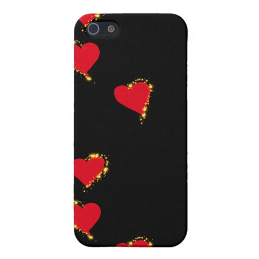 Red Heart Design Cases For iPhone 5