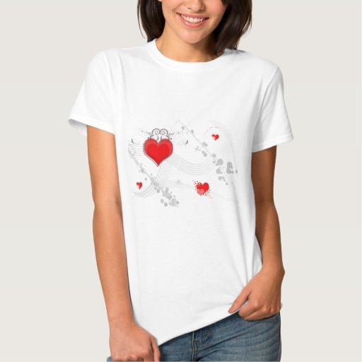 Red Heart Design Ladies T-Shirt