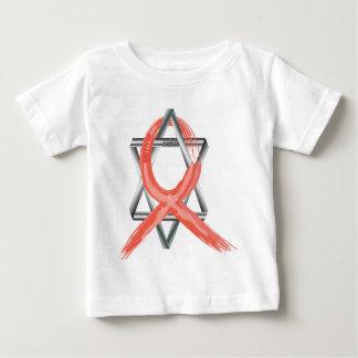 Red Heart Disease / AIDS / HIV Survivor Ribbon Baby T-Shirt