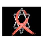 Red Heart Disease / AIDS / HIV Survivor Ribbon Post Cards