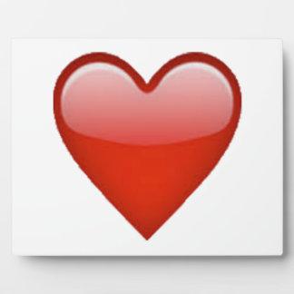 Red Heart - Emoji Plaque