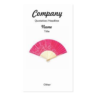 Red Heart Fan Custom Earrings/Business Card Double-Sided Standard Business Cards (Pack Of 100)