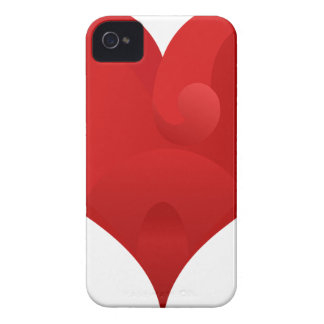 Red Heart For Valentine day iPhone 4 Cover