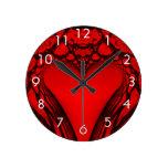 Red Heart Fractal Clock