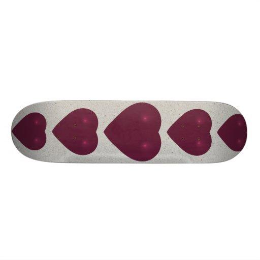 Red Heart Fractal Custom Skate Board