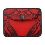 Red Heart Fractal MacBook Pro Sleeve