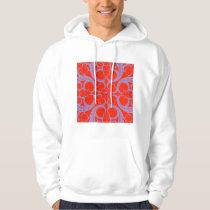 Red Heart Fractal Pattern Hoodie