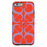 Red Heart Fractal Pattern iPhone 6 Case