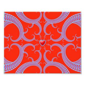 Red Heart Fractal Pattern Art Photo