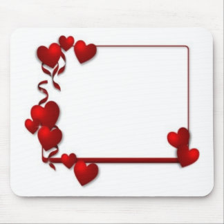 red heart frame - customizable mouse pad