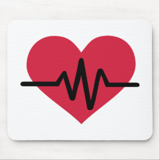 Red heart frequency love mousepads