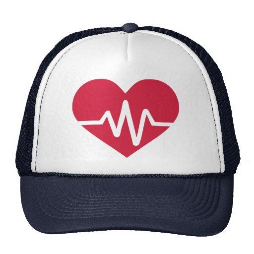 Red heart frequency love trucker hat