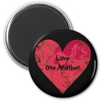 Red Heart frigde art Magnet