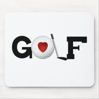 Red Heart Golf Mouse Pad