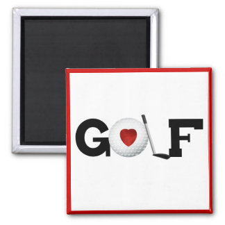 Red Heart Golf T-shirts and Gifts Magnet